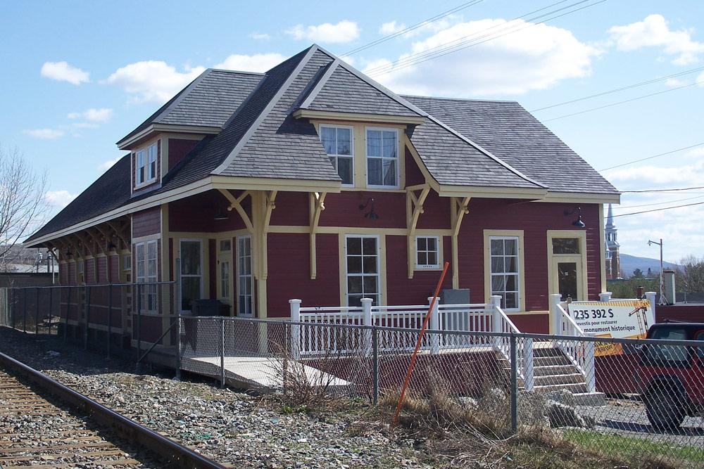 La gare après la restauration