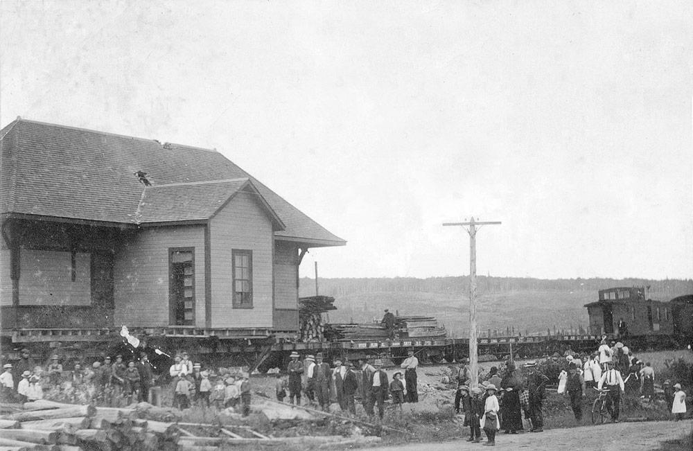 Le déménagement de la gare en 1915